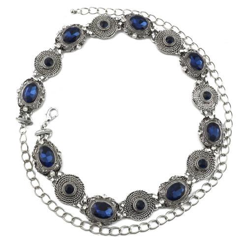 N-6976 Fashion Silver Waist Chain Crystal Sexy Belly Chain Belt Chains Summer Beach Bikini Swimsuit Body Jewelry