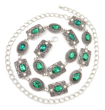N-6983 3 Colors Women Silver Metal Crystal Belly Chains Summer Beach Sexy  Body Jewelry