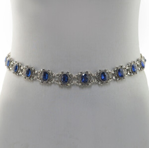 N-6982 New Fashion Silver Plated Alloy Crystal Flower Waist chain Jewelry