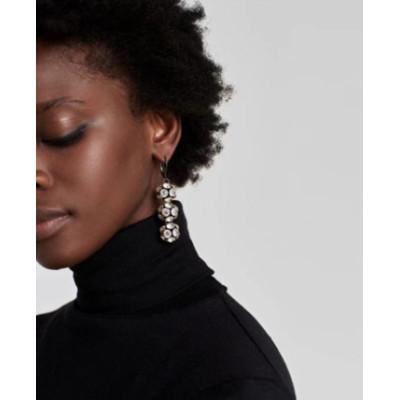 E-4474 Elegant Lady Fashion & Home & Living 9Colors Acrylic Crystal Black-Zinc Alloy Earrings Balls Shaped  Rhinestone Pendant Drop Dangle Earrings for Women Charming Jewelry