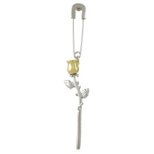 E-4468 2 Style Fashion Gold Silver Plated Alloy pin bear flower pendant Eaeeings Jewelry