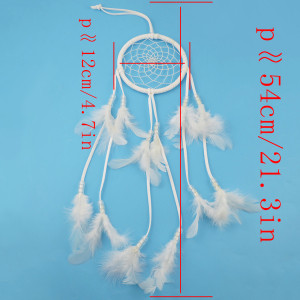 N-6986 New Fashion Dreamcatcher Gift Handmade Dream Catcher Net With Clear Beads Feathers Pendant Wall Hanging Decoration Ornament