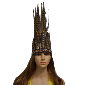F-0477 Feather Headdress Chief Headdress Costume Native American Indian Inspired