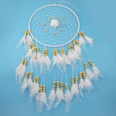 N-6988 New Fashion Hollow out cloth flower Feather beads pendant accessories Jewelry