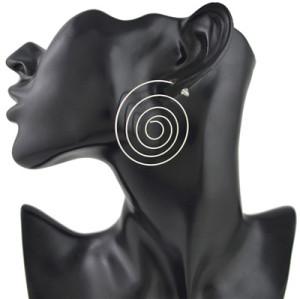 E-4476 Fashion Trendy Thread Round Earrings For Women