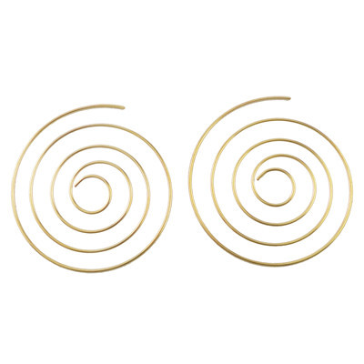 E-4476 Fashion Trendy Thread Round Earrings For Women