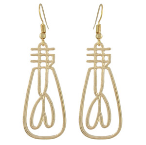 E-4478 2 Style Gold Metal Face Man Drop Dangle Earrings for Women Ladies Party Fashion Accessories