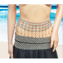 N-6992 Sexy Silver Metal Butterfly Shape Belly Chains for Women Summer Beach Party Body Jewelry