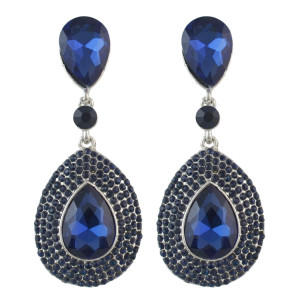 E-4485 4 Colors Teardrop Crystal Rhinestone Gold Plated Dangle Earrings For Women's Engagement Gift