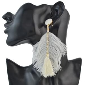 E-4492 New Fashion Gold Metal Thread Long Tassel Drop Earrings for Women Bohemian Party Fashion Jewelry