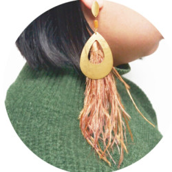 E-4493 New Fashion Gold Metal Thread Long Tassel Drop Earrings for Women Bohemian Party Fashion Jewelry