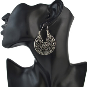 E-4498 Vintage Ethnic Tibetan Silver Hook Earring Dangling Earrings Tribal Jewelry 2 Style