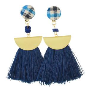 E-4501 Fashion Statement Drop Dangle Earring Tassel Thread Long Earrings for Women Bridal Jewelry