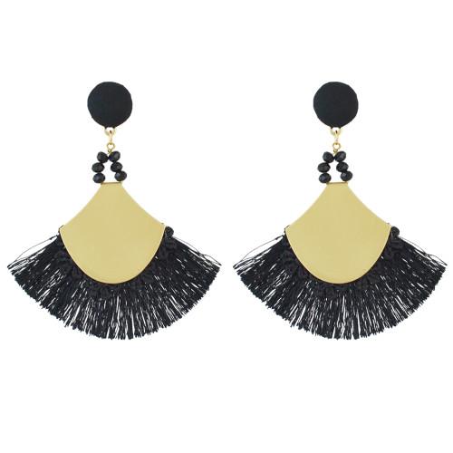 E-4506 Fashion Statement Drop Dangle Earring Acrylic Tassel Thread Long Earrings for Women Bridal Jewelry