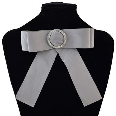N-7010 5 Colors Fashion Tie Cloth Rhinestone Tie Women Accessories