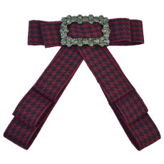 N-7009 Collar Bow-Cosplay Costume Dress up Collar Cape Women Detachable Cloth Rhinestone Bow Tie Satin Ribbon