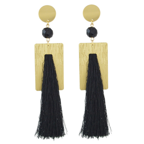 E-4519 New Fashion 6Colors Gold Plated Alloy Crystal Thread tassel pendant Earrings