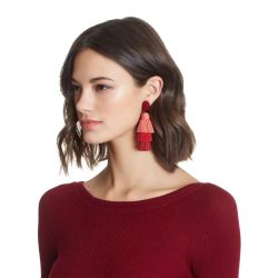 E-4518 New Fashion Gold Metal Thread Long Tassel Drop Earrings for Women Bohemian Party Fashion Jewelry