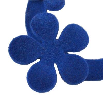 E-4517 4 Colors Flower Shape Flocking Acrylic Earrings Big Earrings Party Jewelry