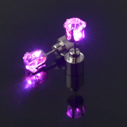 E-4527 New Fashion personality Silver Plated Alloy Crystal luminous Earrings