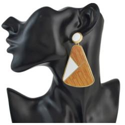 E-4531 3 Colors Bohemian Geometric Shape Acrylic Earrings for Women Fashion Party Jewelry