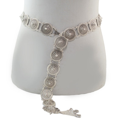 N-7027 E-5537 E-5557 Vintage Silver Waist Chain earring Bells Metal Tassel  Belly Chain  Charm Belt Chains Body Jewelry