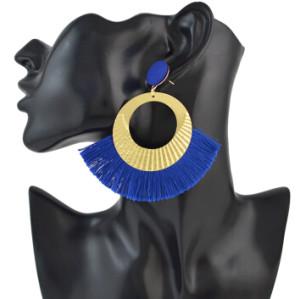 E-4547 6 Colors Bohemian Cotton Tassel Drop Earrings for Women Party Anniversary Gift
