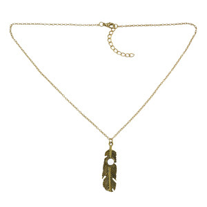N-5771  European style Gold Metal alloy Left pendant necklace for women
