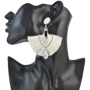 E-4551 5 Colors Bohemian Cotton Tassel Drop Earrings for Women Party Anniversary Gift