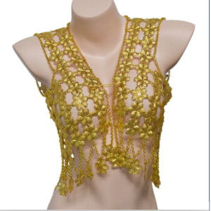 N-7042 5 Styles Luxury Gold Alloy Craved Pattern Hollow Flakes Flowers Body Chain Waistcoat Harness  Women Man Accessory