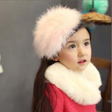 F-0482 Children Handmade Woolen Plush  Feather Cute Hairband Headband Hair Jewelry