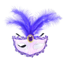 N-7046 New Gold Plated Gothic Silk Needle Lace Chain Hollow Out Crystal Rhinestone feather Mask