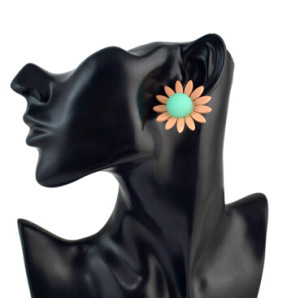 E-4560 4 Colors Trendy Acrylic Flower Shaped Stud Earrings for Women Bridal Party Jewelry Gift
