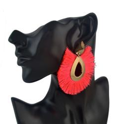 E-4564 8 Colors Boho Fringe Earrings  Waterdrop Stud Tassel Earring Elegant Jewelry