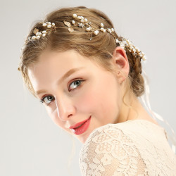 F-0471 4Pieces/set New  Fashion Gold Plated Alloy Pearl Crystal Rhinestone Hairclip  Handmade Hair Accessory Jewelry