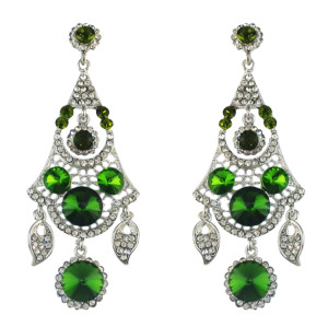 E-4573 Women's Drop Earrings Crystal Wedding Bridal Bling Long Dangle Earring
