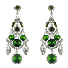 E-4573 Women's Drop Earrings Crystal Wedding Bridal Bling Long Dangle Earring