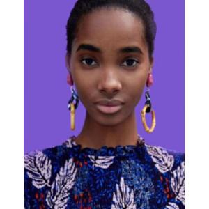 E-4572 Fashion Acrylic Wooden Long Drop Earrings for Women Bohemian Party Jewelry Gift