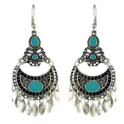E-4581 Bohemian Retro Drop Dangle Earrings Tassels Hook Earring for Women