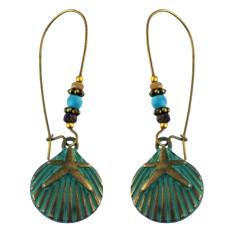 E-4584 Bohemian Retro Drop Dangle Earrings Beaded Turquoise Earring for Women 3 Styles