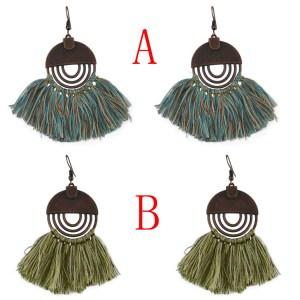 E-4587 Kashmiri New Style Designs Tassel Earrings For Women