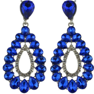 E-4588 4 Colors waterdrop Earrings With Crystal For Women Wedding Bridal Long Dangle Earring