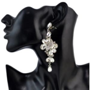 E-4589 4 Colors Fashion Bohemian Silver Alloy Crystal Rhinestone  Drop Dangle Earrings Women Jewelry