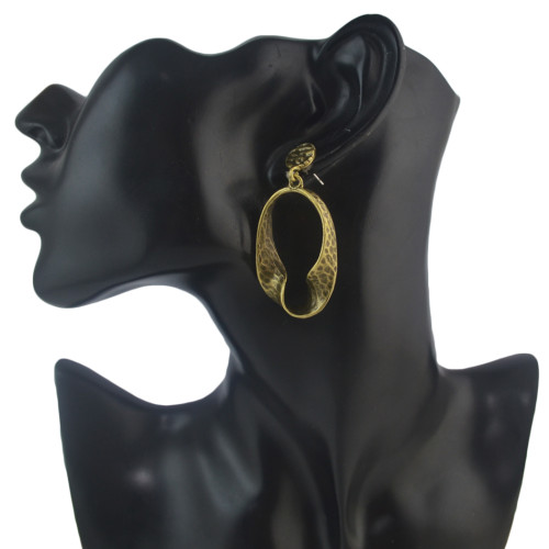 E-4594 Fashion Bronze Plated Alloy Personality irregular Shape Earrings Jewelry