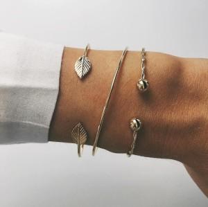 B-0884  Italian Cheap 18k Gold  Bangle Bracelet Set For Wedding