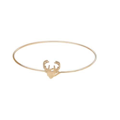 B-0885  4pcs/set Cute Simple Leaf Deer Antlers Bracelet Deer Head LOVE Snowflake Bracelet