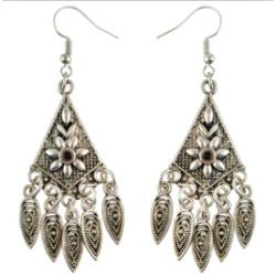 E-4598 2 Styles Fashion Silver Plated Alloy Follower Personality irregular Shape Earrings Jewelry
