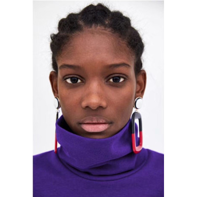 E-4602 7 Colors Square Shape Enamel Fashion Ear Studs for Fashion Women