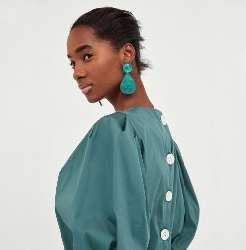 E-4601 2 Colors Trendy Unique Water Drop Shape Cullet Lines Acrylic Women Earrings