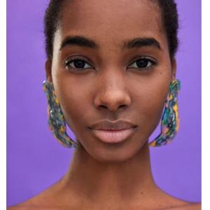E-4576 Fashion Acrylic colorful Long Drop Earrings for Women Bohemian Party Jewelry Gift